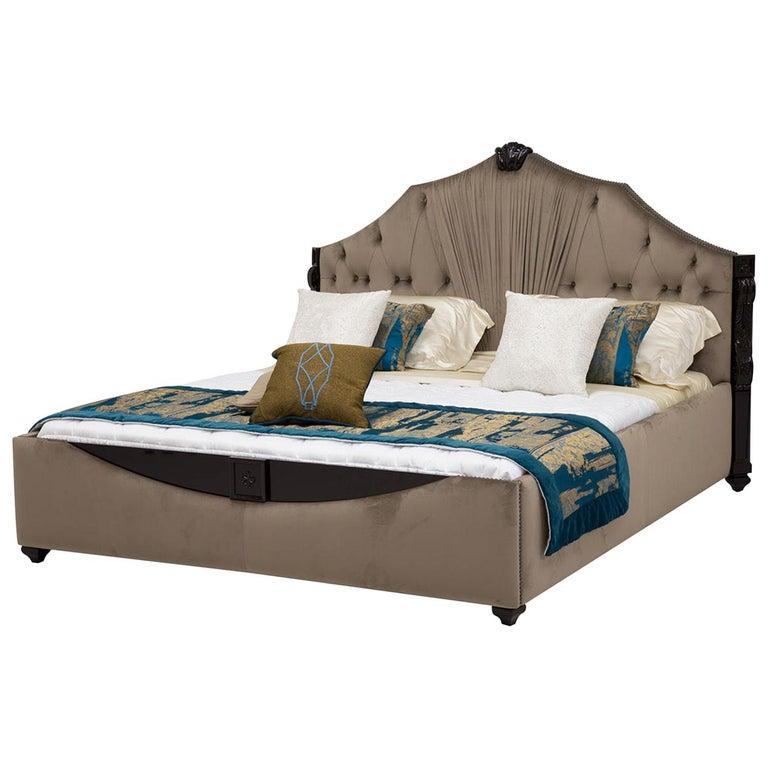 Velvet King Size Bedframe For Sale