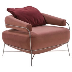 Velvet with Silver Structure Eagle Armchair