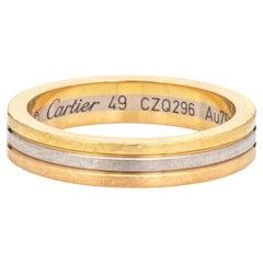 Vendome Louis Cartier Wedding Band 18k Gold Ring Estate