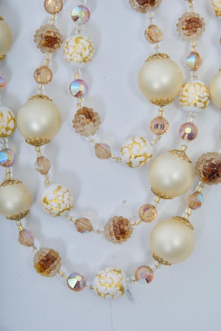 Women's Vendome Pearl and Crystal Semi-Parure For Sale