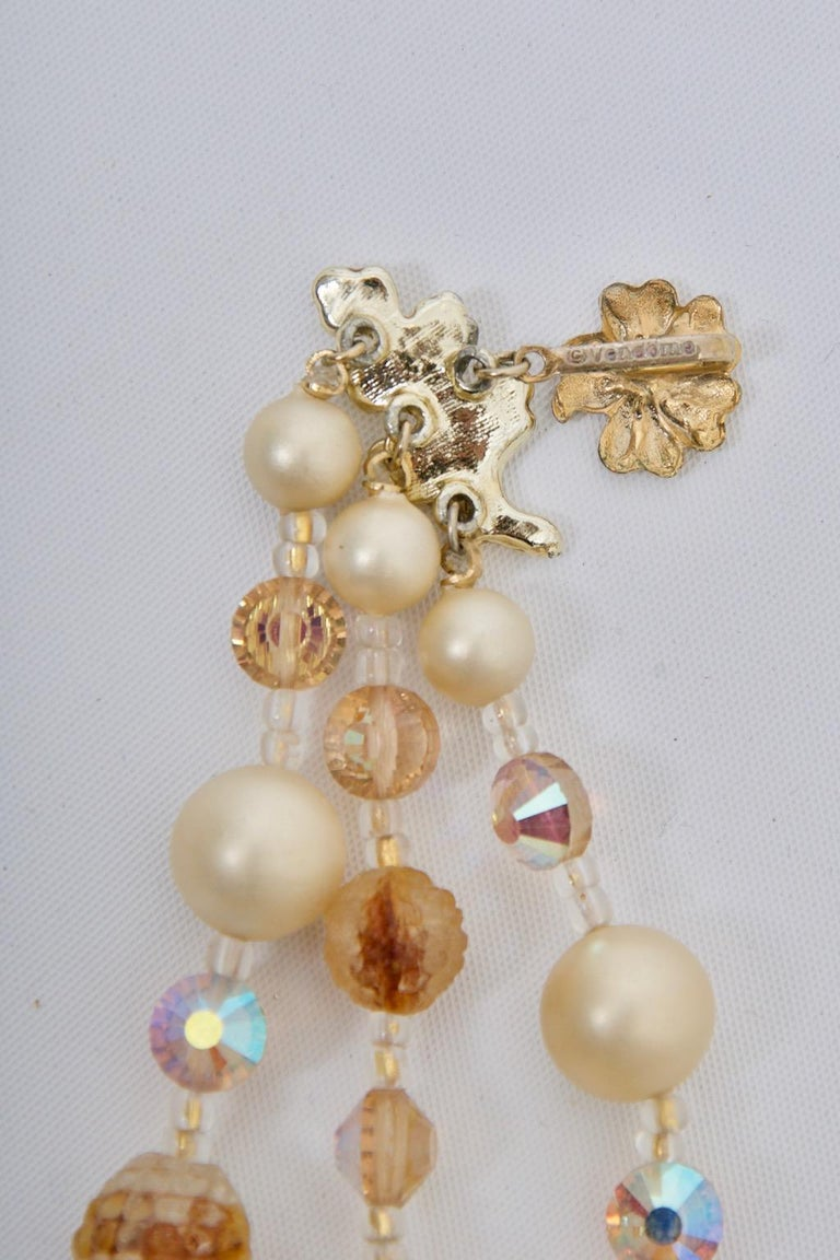 Vendome Pearl and Crystal Semi-Parure For Sale 1