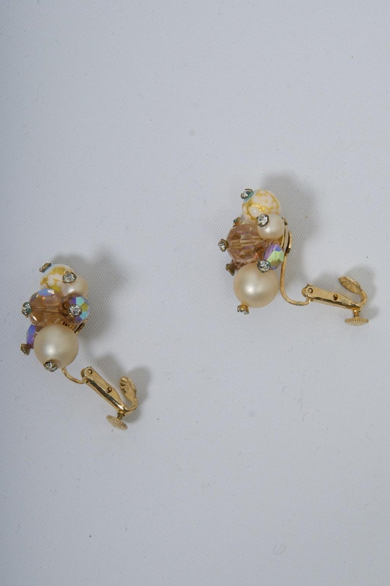 Vendome Pearl and Crystal Semi-Parure For Sale 2