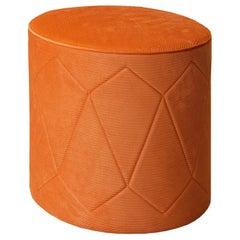 Venere Orange Pouf