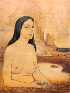 Nude Woman; Venetia Epler (American 1926 - 2005); oil on board