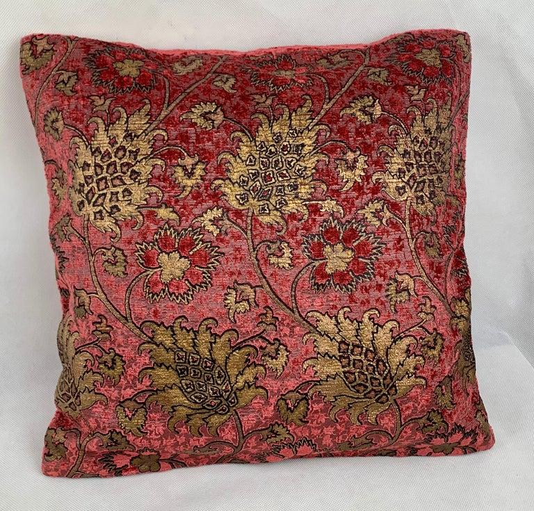 Pair of Venetia Studium/Fortuny Oblong Velvet Cushion in the Bizarre Pattern For Sale 1