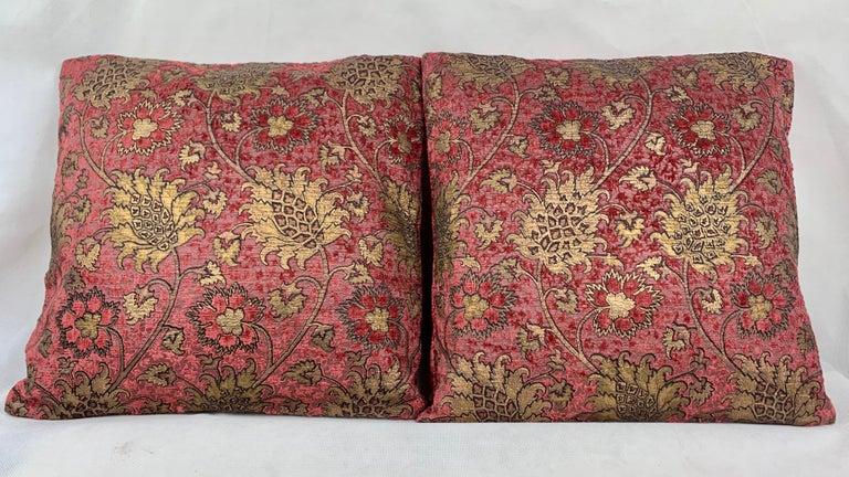 Pair of Venetia Studium/Fortuny Oblong Velvet Cushion in the Bizarre Pattern For Sale 2