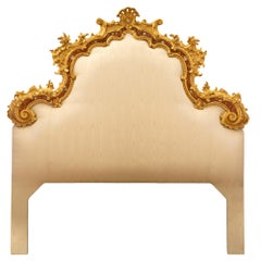 Venetian 18th Century Mother of Pearl, Giltwood King Sized Headboard