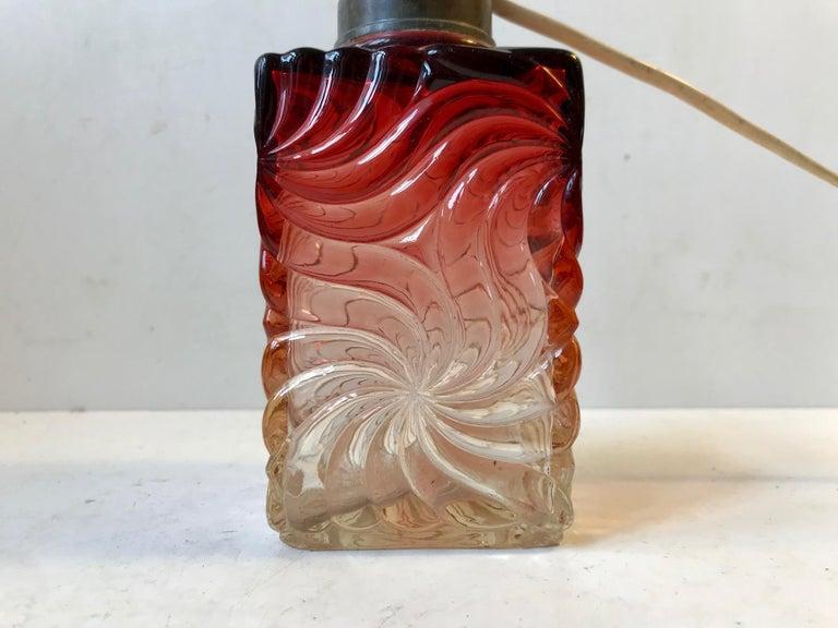 Art Deco Venetian Art Glass Table Lamp from Murano, 1930s For Sale