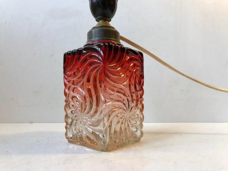 Italian Venetian Art Glass Table Lamp from Murano, 1930s For Sale
