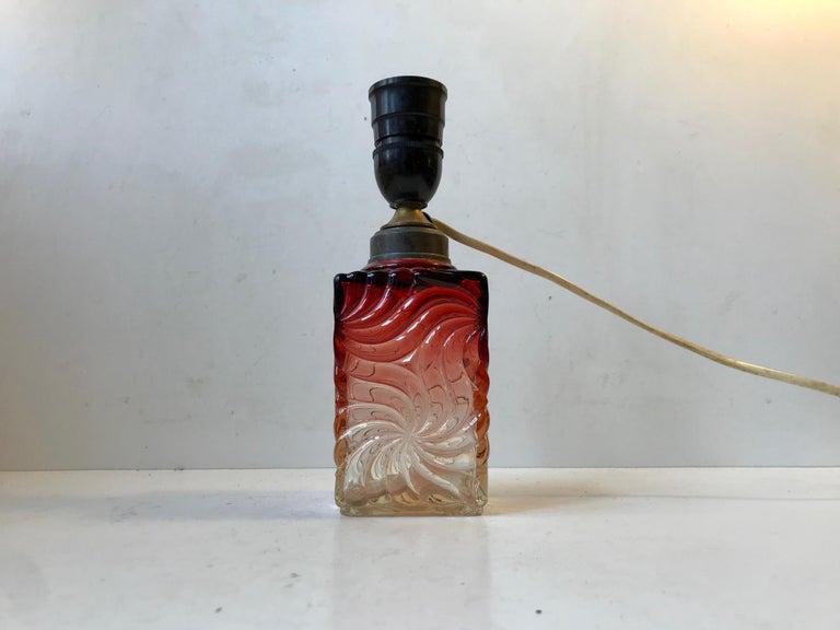 Venetian Art Glass Table Lamp from Murano, 1930s For Sale 2