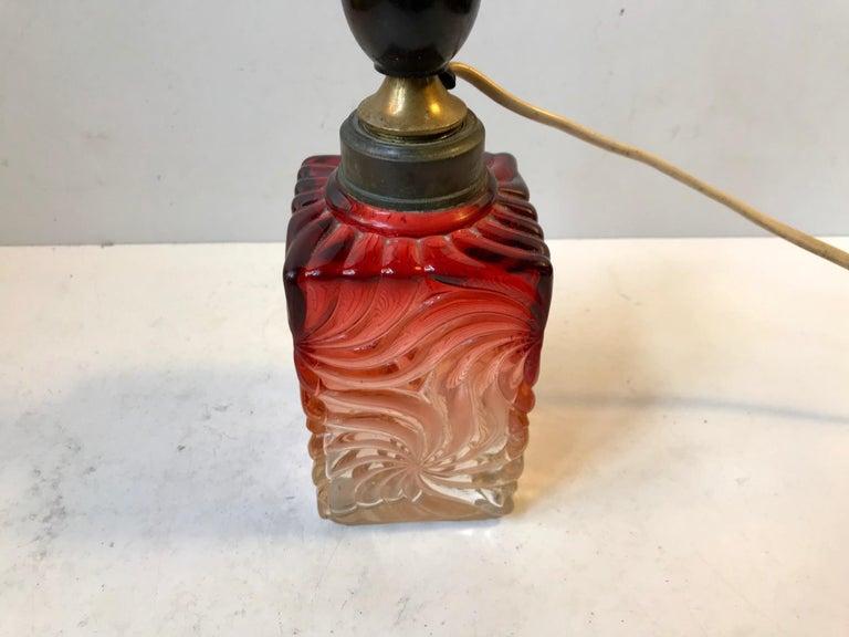 Venetian Art Glass Table Lamp from Murano, 1930s For Sale 3