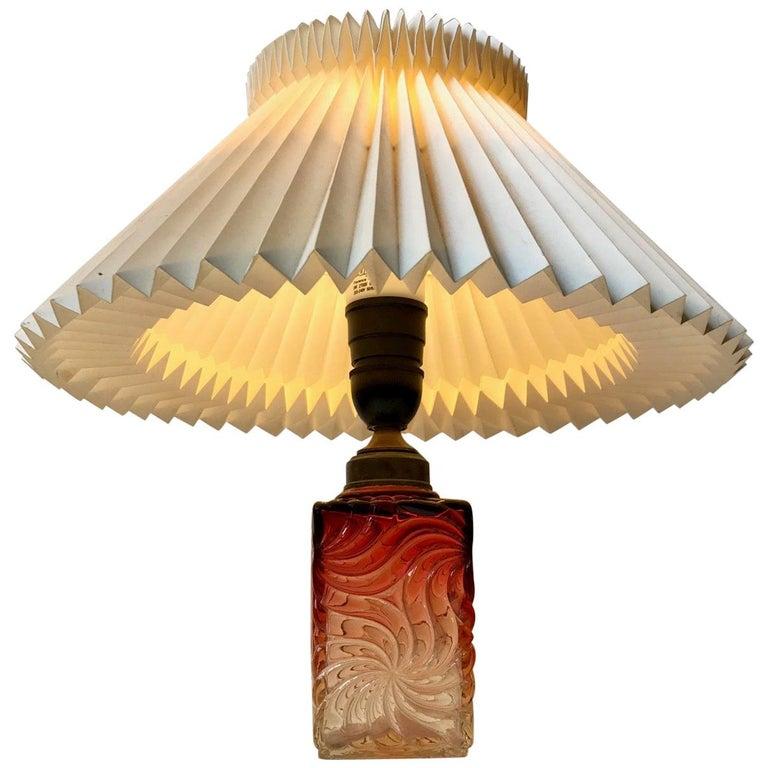 Venetian Art Glass Table Lamp from Murano, 1930s For Sale