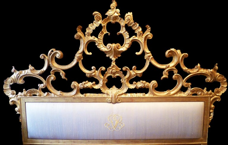 Venetian Bed, Rococo Style, Hand Crafted, Made by La Maison London For Sale 3