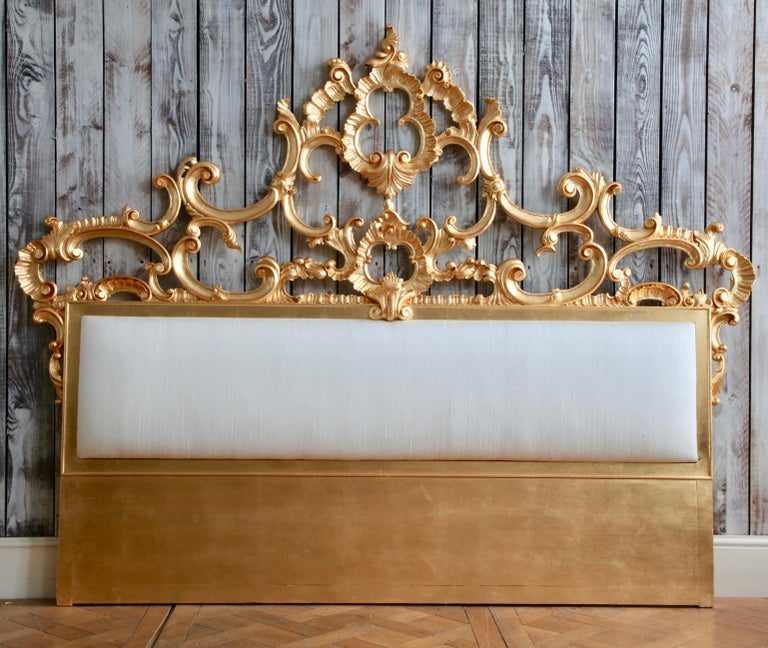 Contemporary Venetian Bed, Rococo Style, Hand Crafted, Made by La Maison London For Sale