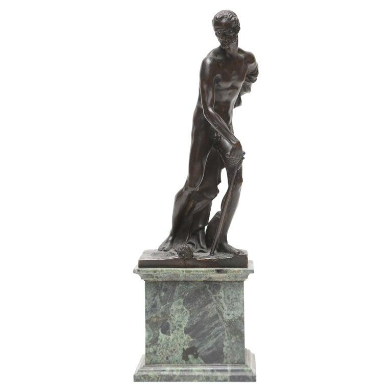 Venetian Bronze Statuette of St. Jerome, 17th-18th Century For Sale