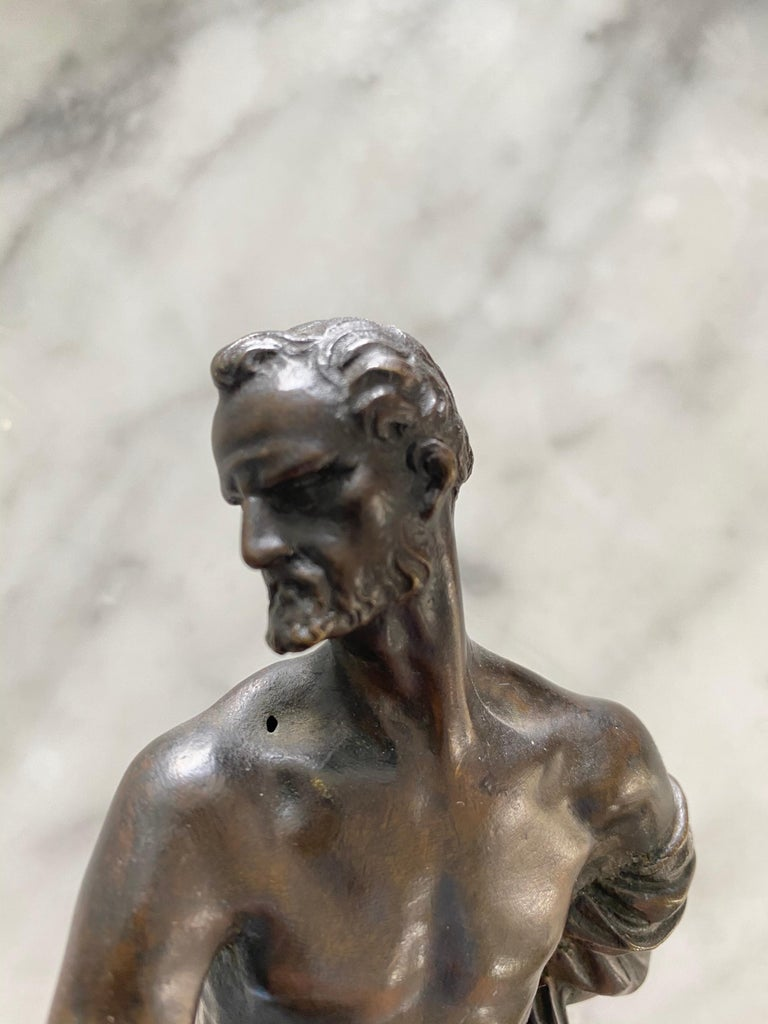 Venetian Bronze Statuette of St. Jerome, 17th-18th Century For Sale 2