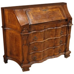 Venetian Bureau in Inlaid Wood, 20th Century