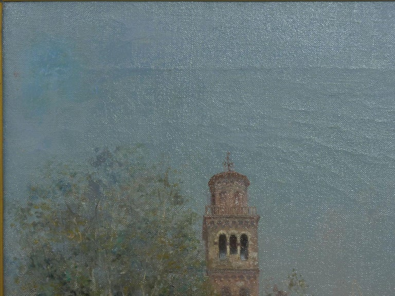 """Venetian Canal"" Antique Oil Painting by Warren Shepherd 'American, 1858-1937' For Sale 3"