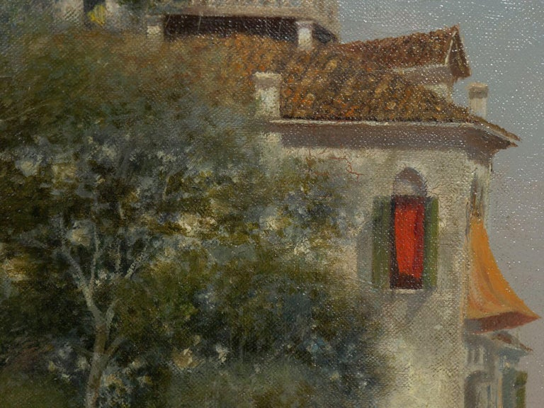 """Venetian Canal"" Antique Oil Painting by Warren Shepherd 'American, 1858-1937' For Sale 5"