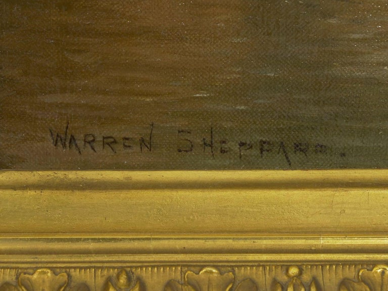 """Venetian Canal"" Antique Oil Painting by Warren Shepherd 'American, 1858-1937' For Sale 8"
