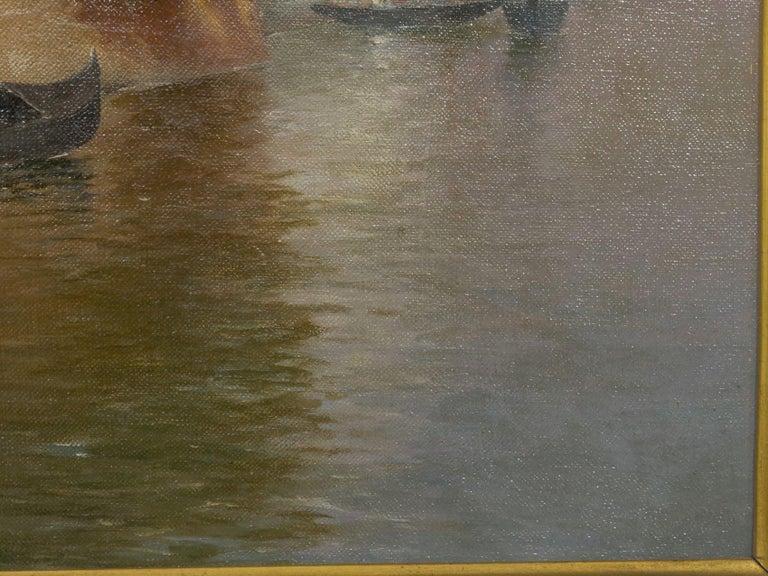 "19th Century ""Venetian Canal"" Antique Oil Painting by Warren Shepherd 'American, 1858-1937' For Sale"