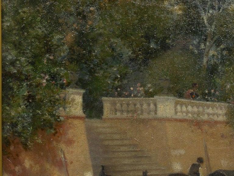 """Venetian Canal"" Antique Oil Painting by Warren Shepherd 'American, 1858-1937' For Sale 1"