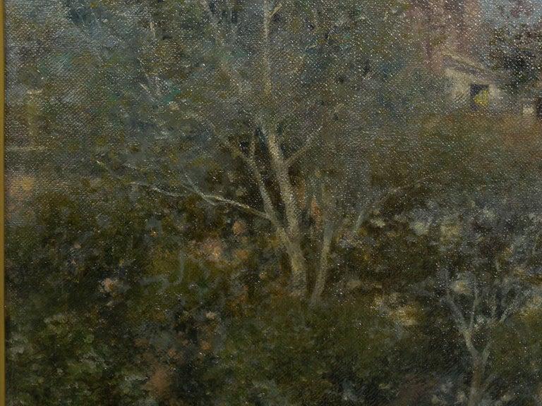 """Venetian Canal"" Antique Oil Painting by Warren Shepherd 'American, 1858-1937' For Sale 2"