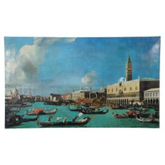 Venetian Canal with Historic Buildings Painting