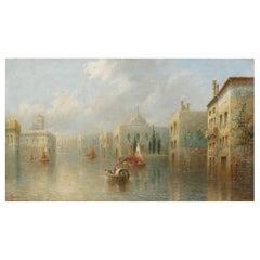 """""""Venetian Capriccio"""" Antique Landscape Oil Painting by James Salt"""