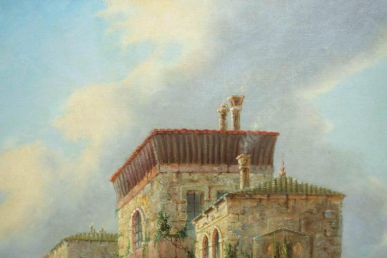 Venetian Capriccio Landscape Painting by James Salt 'English, 1850-1903' For Sale 3