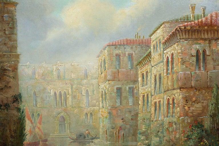 Venetian Capriccio Landscape Painting by James Salt 'English, 1850-1903' For Sale 4