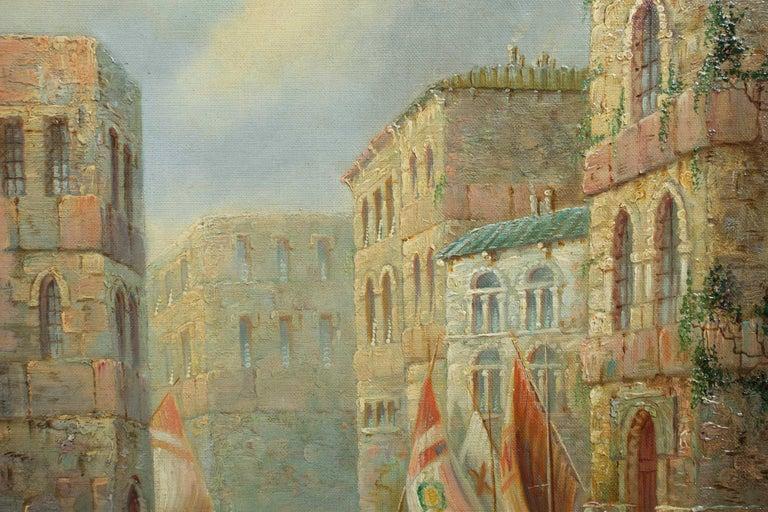 Venetian Capriccio Landscape Painting by James Salt 'English, 1850-1903' For Sale 5