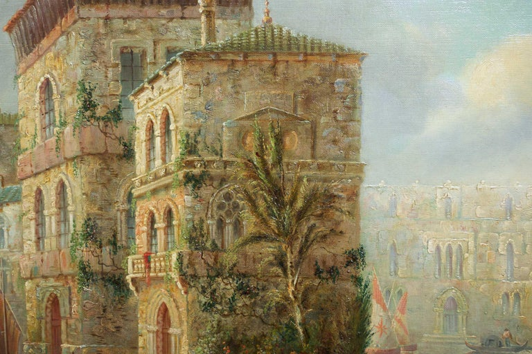 Venetian Capriccio Landscape Painting by James Salt 'English, 1850-1903' For Sale 6