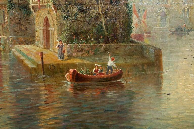 Venetian Capriccio Landscape Painting by James Salt 'English, 1850-1903' For Sale 7