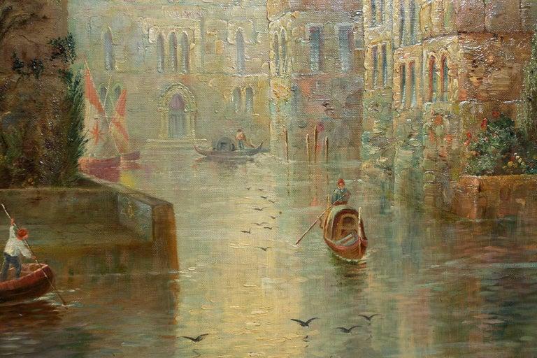 Venetian Capriccio Landscape Painting by James Salt 'English, 1850-1903' For Sale 8