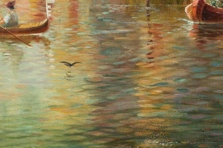 Venetian Capriccio Landscape Painting by James Salt 'English, 1850-1903' For Sale 9