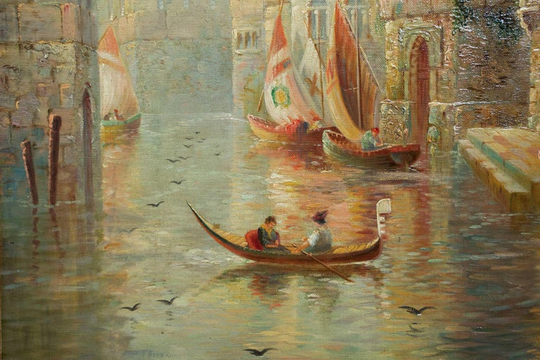 Venetian Capriccio Landscape Painting by James Salt 'English, 1850-1903' For Sale 10