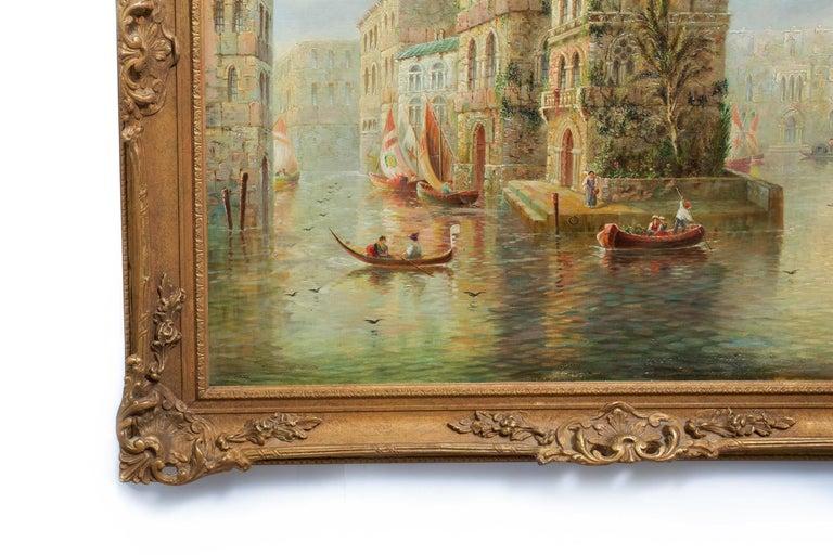 Venetian Capriccio Landscape Painting by James Salt 'English, 1850-1903' For Sale 11