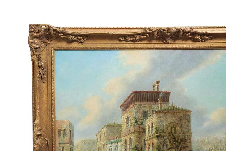 Venetian Capriccio Landscape Painting by James Salt 'English, 1850-1903' For Sale 12