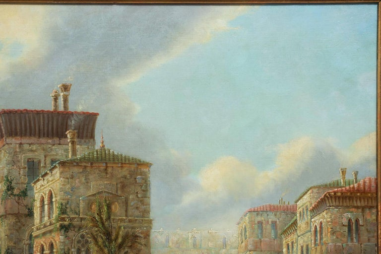 Romantic Venetian Capriccio Landscape Painting by James Salt 'English, 1850-1903' For Sale