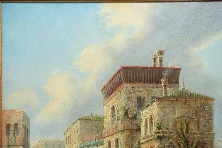 British Venetian Capriccio Landscape Painting by James Salt 'English, 1850-1903' For Sale
