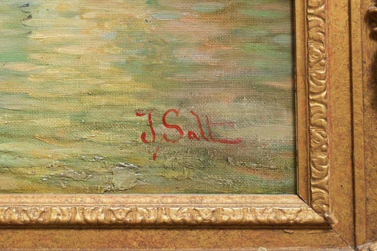 19th Century Venetian Capriccio Landscape Painting by James Salt 'English, 1850-1903' For Sale