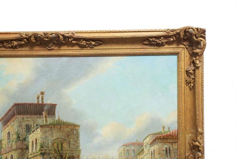 Canvas Venetian Capriccio Landscape Painting by James Salt 'English, 1850-1903' For Sale