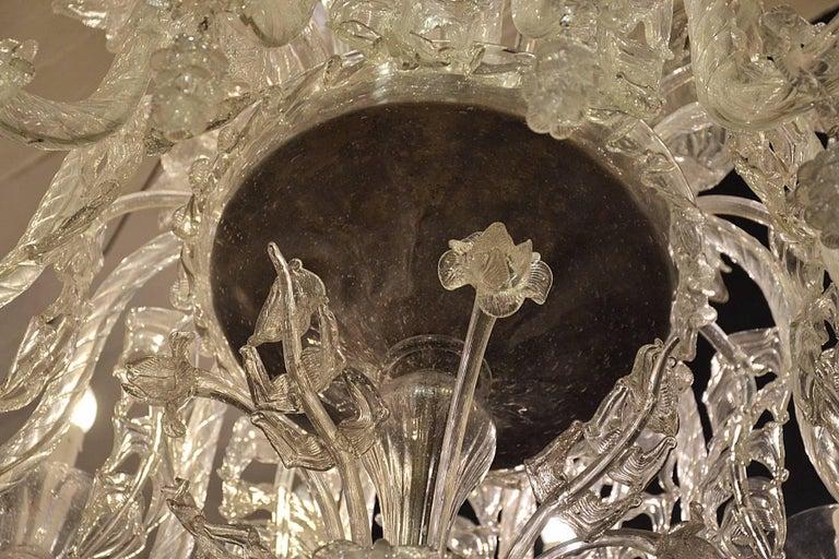 Glass Venetian Chandelier, Pauly, circa 1930 For Sale