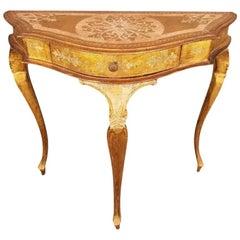 Venetian Demilune Table