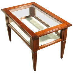 Venetian Designer Modern Handcrafted Bevelled Glass Coffee Table / Display Case