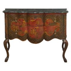 Venetian Early 19th Century Two-Drawer Japanese Lacquered Commode