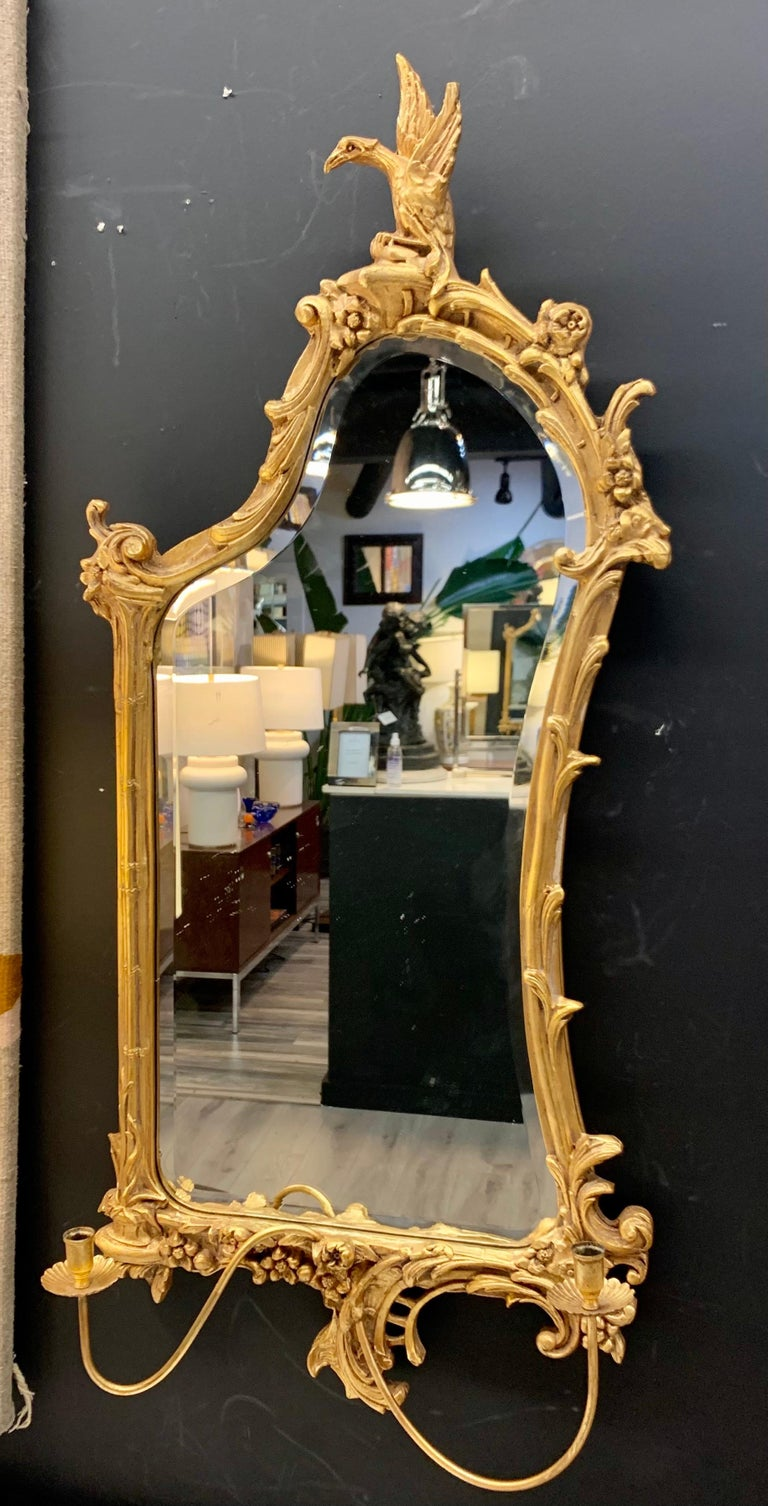 Venetian Early 20th Century Rococo Sculptural Carved Gilt Wood Mirror 7