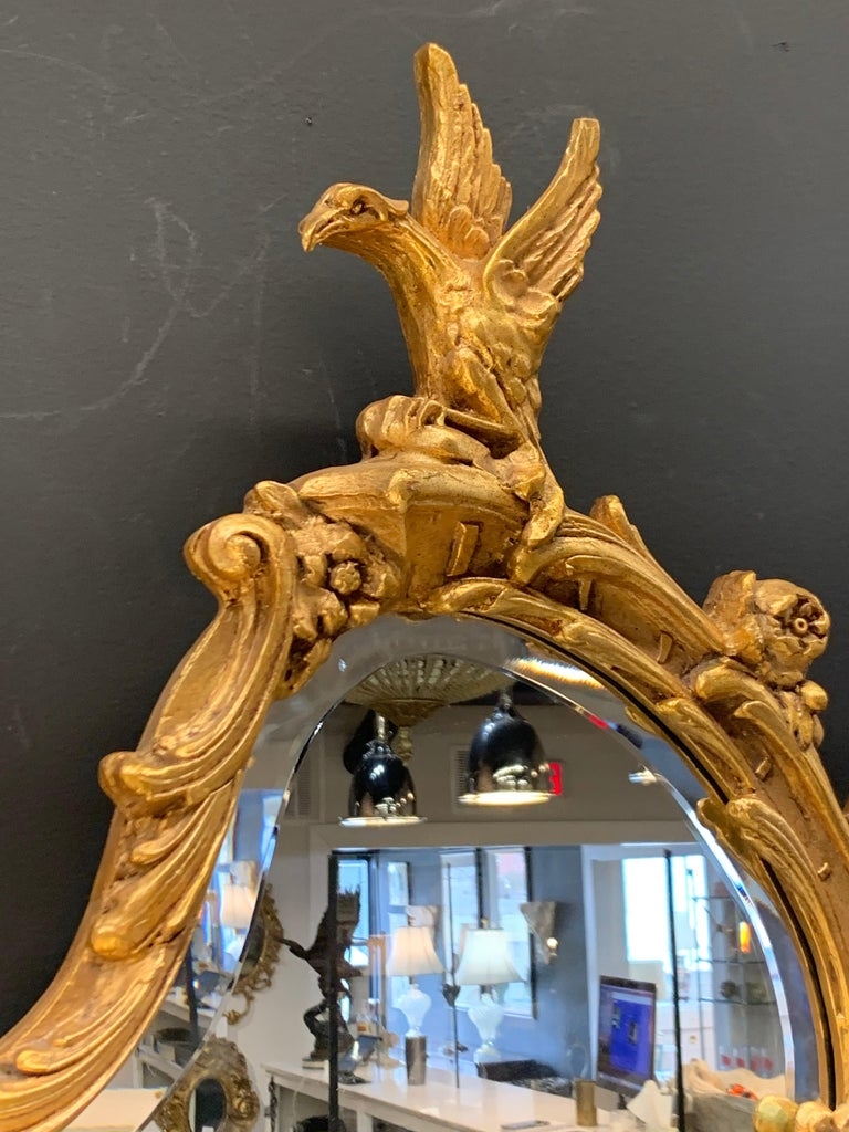 Venetian Early 20th Century Rococo Sculptural Carved Gilt Wood Mirror 4