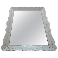 Venetian Etched Wall Mirror